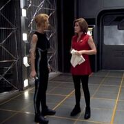 Janeway and Seven of Nine after velocity