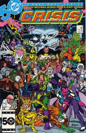 Cover for Crisis on Infinite Earths #9 (1985)