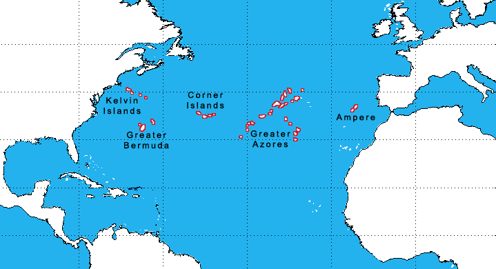 atlantic ocean islands
