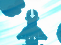 Aang in the iceberg