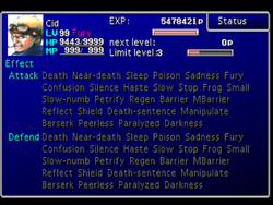 FFVII Status Screen 3