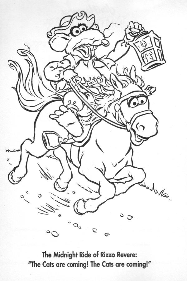 Paul Revere Coloring Page - Eskayalitim