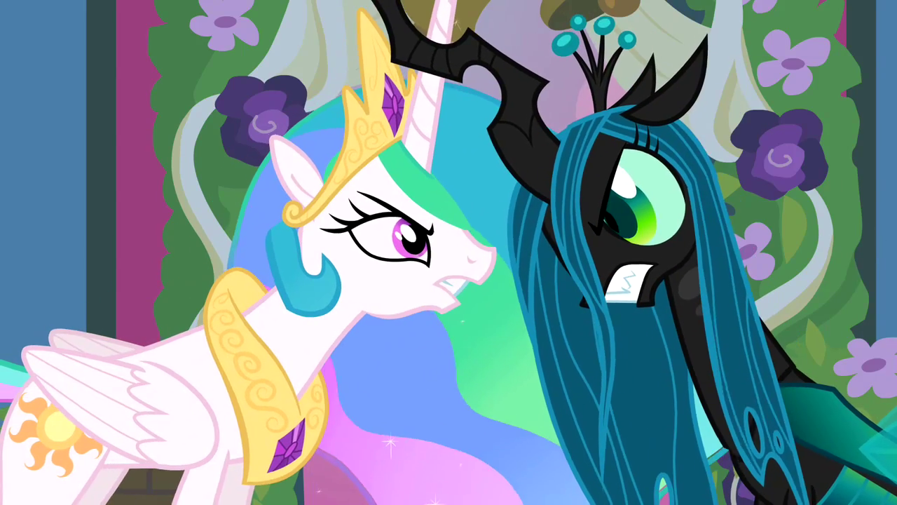 Img AltCelestia And Chrysalis Lock Horns S02E26 Src Static2wikianocookie Cb20120507024911 Mlp Images Thumb 5 59