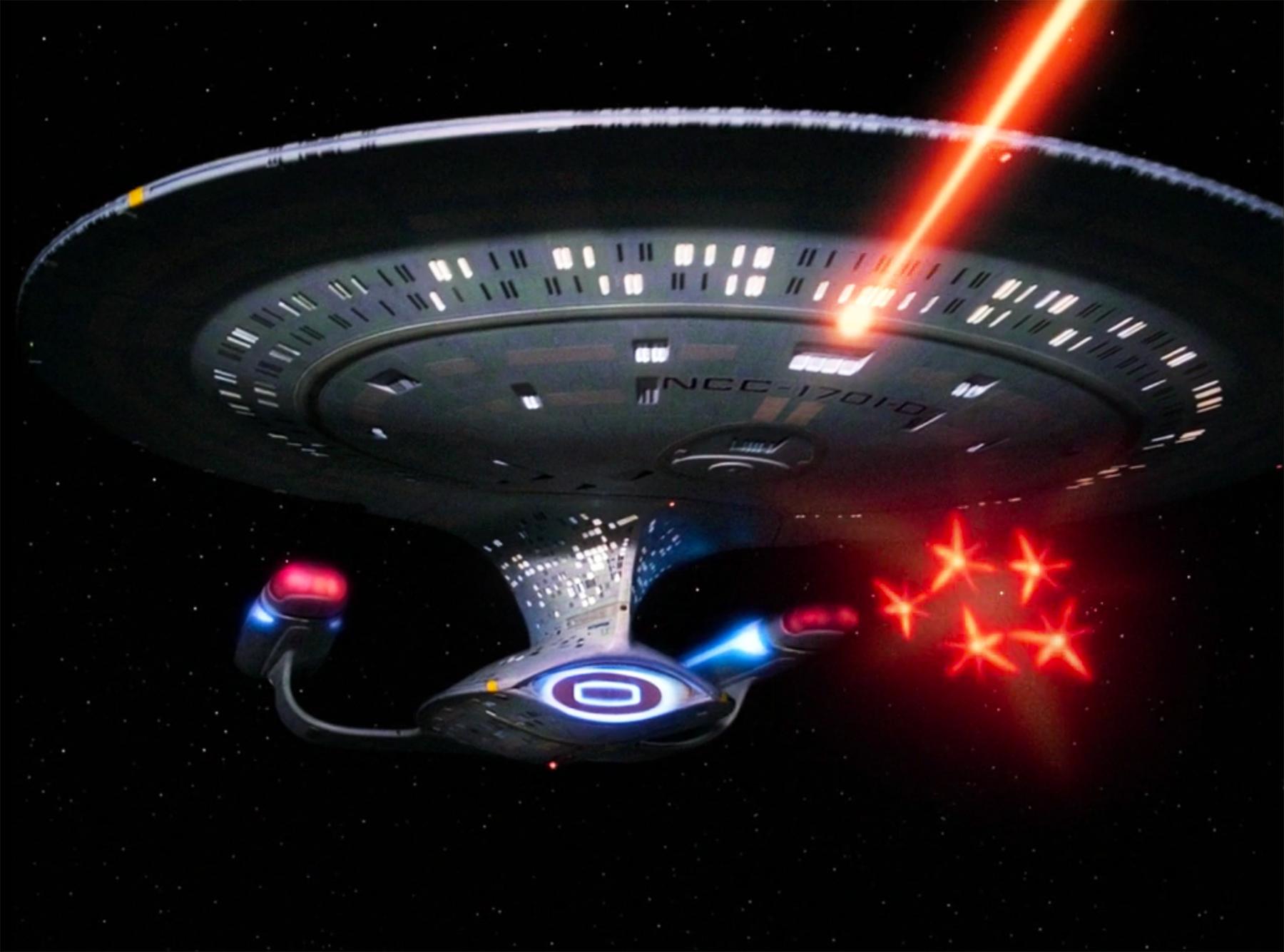 Uss enterprise ncc 1701 d galaxy class saucer separation r flickr - Enterprise D Fires Phasers And A Simultaneous Volley Of Torpedoes Star Trek Pinterest Star Trek Trek And Fandom