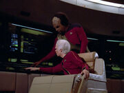 Mark Jameson and Worf