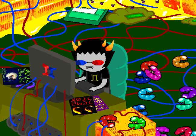 Sollux At Computer