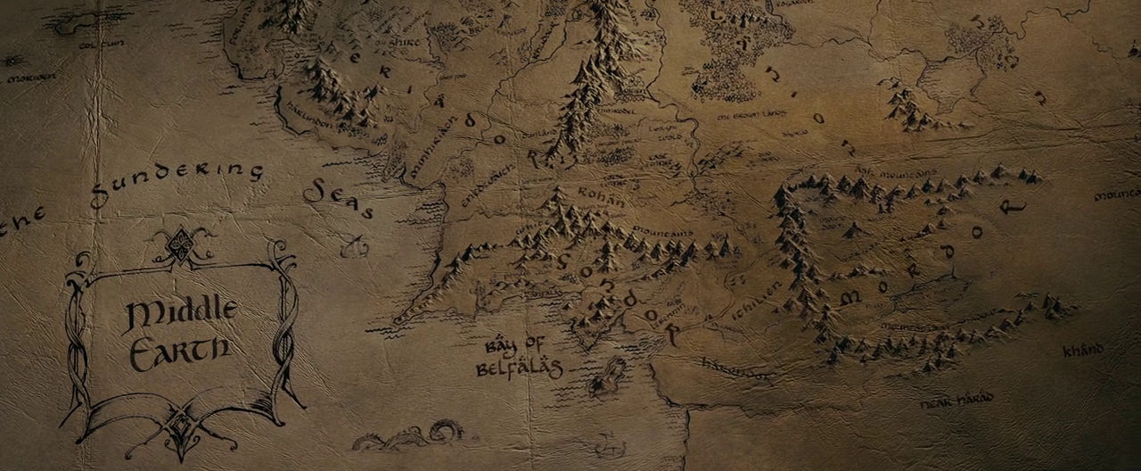 Did Maps In Middle Earth Have West: The One Ring Forums: Tolkien Topics: Movie Discussion: The