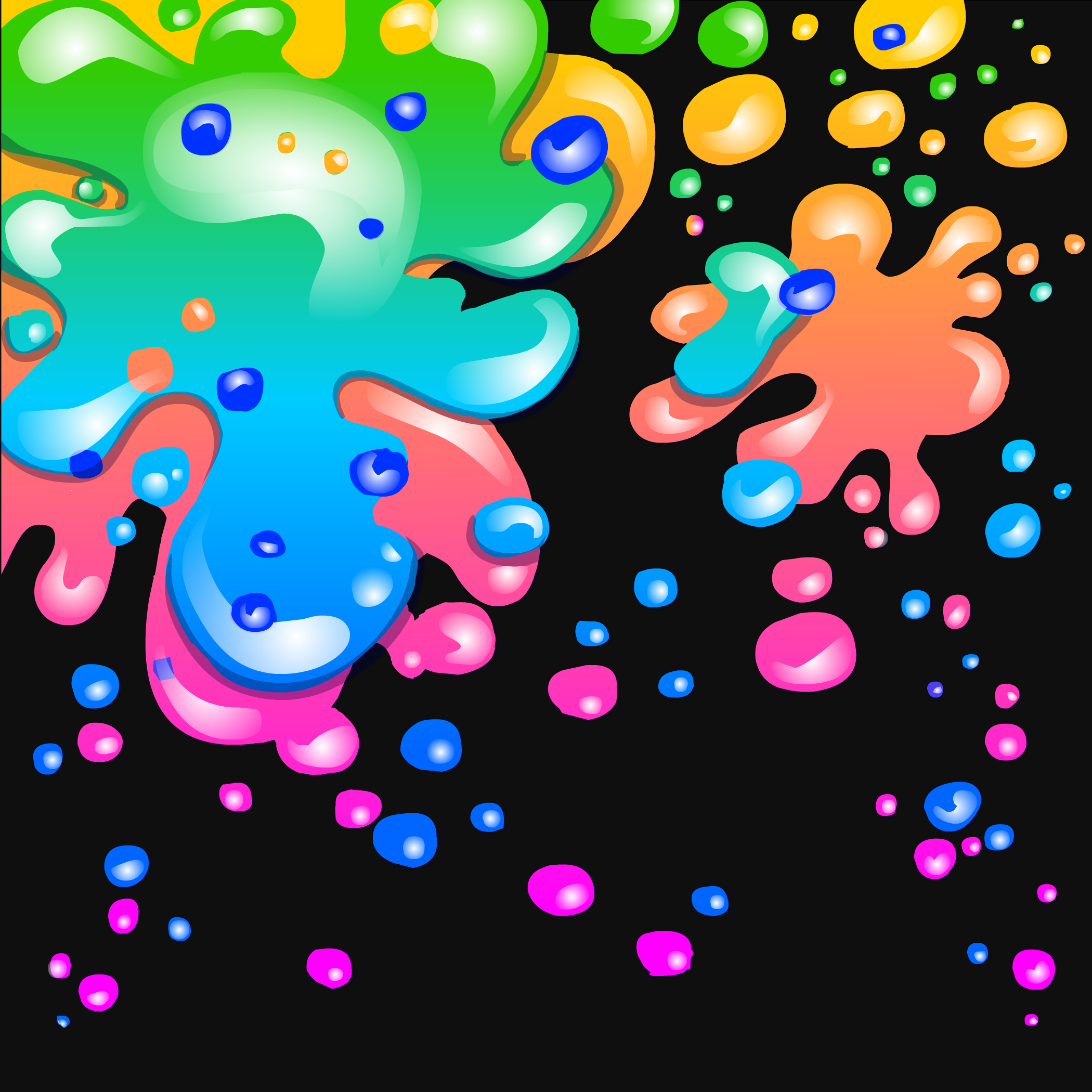 Neon Paint Splatter Background - Club Penguin Wiki - The ...