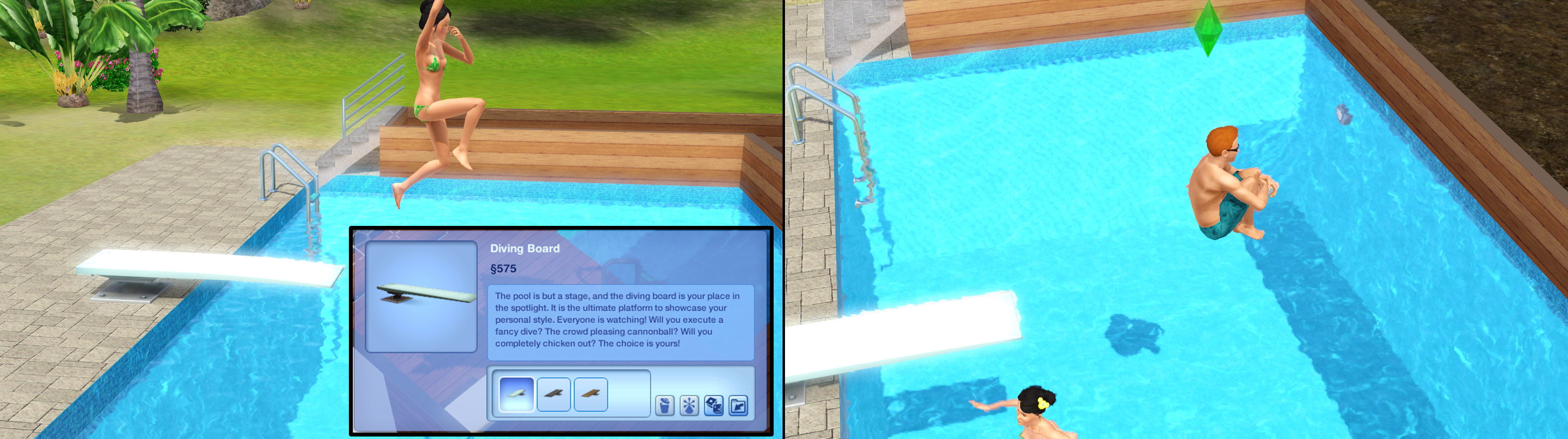 diving board the sims wiki. Black Bedroom Furniture Sets. Home Design Ideas