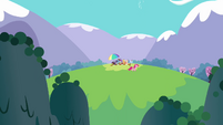 Main ponies having a picnic S3E7