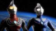 Ultraman Cosmos vs Justice The final battle