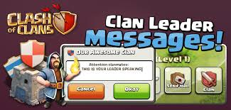 Clan Leader Messages