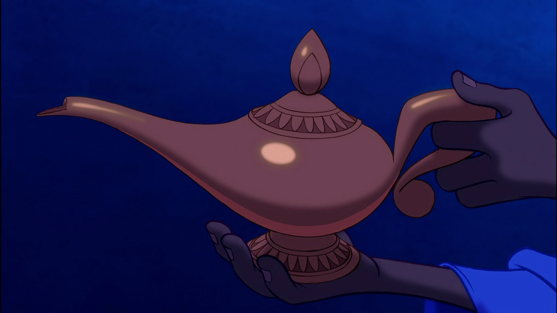 Genie Coming Out Of Lamp Aladdin