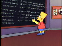 Chalkboard gag (Bart the Genius)