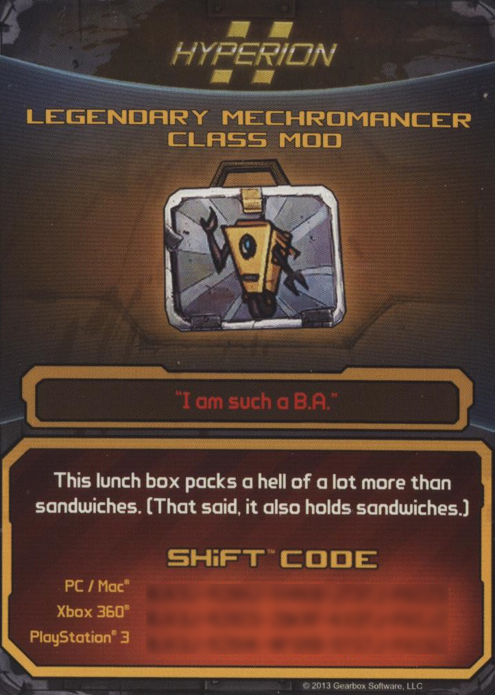 Borderlands 2 necromancer class mod gibbed code