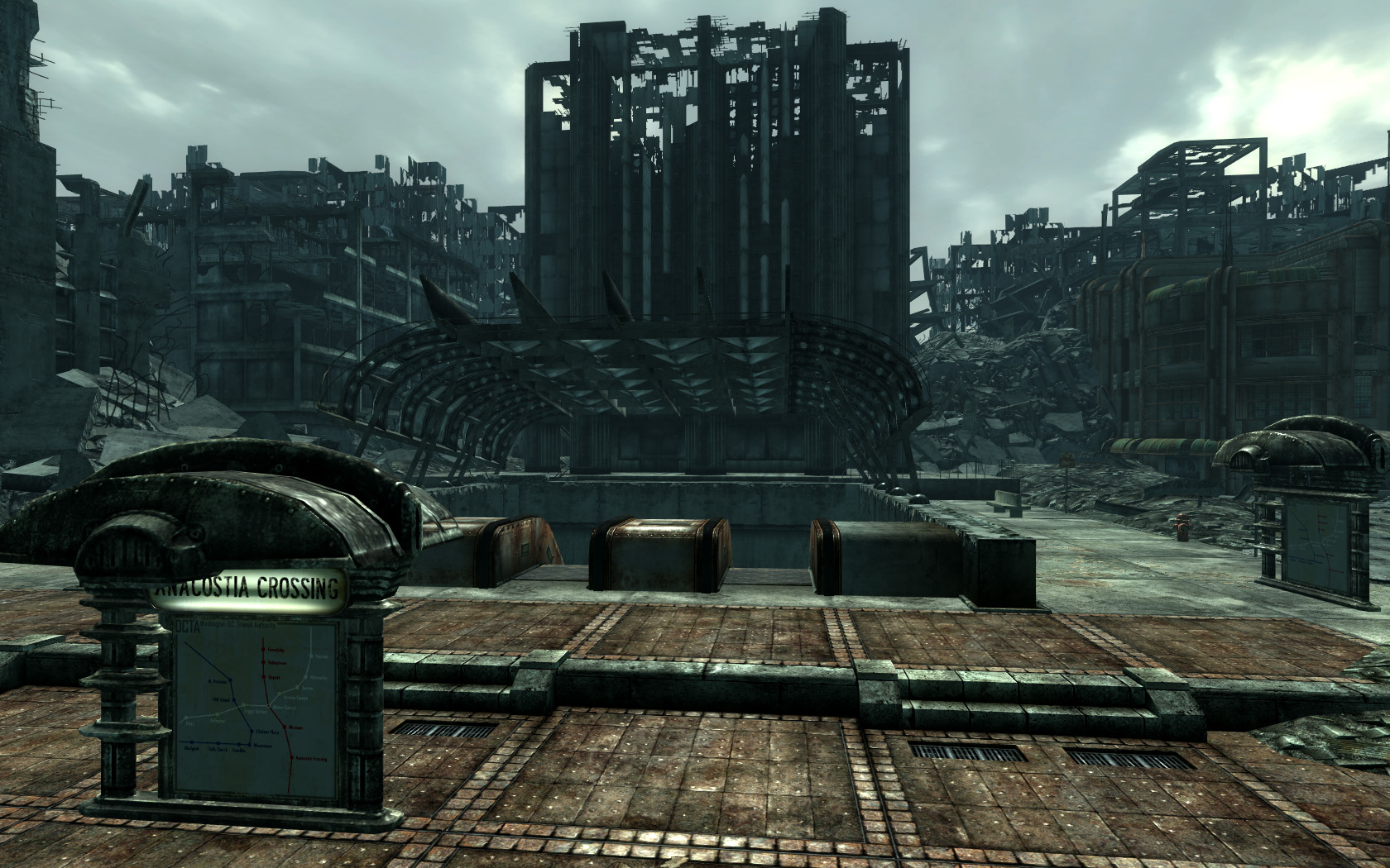 Anacostia crossing the fallout wiki fallout new vegas for Entrance to rivet city