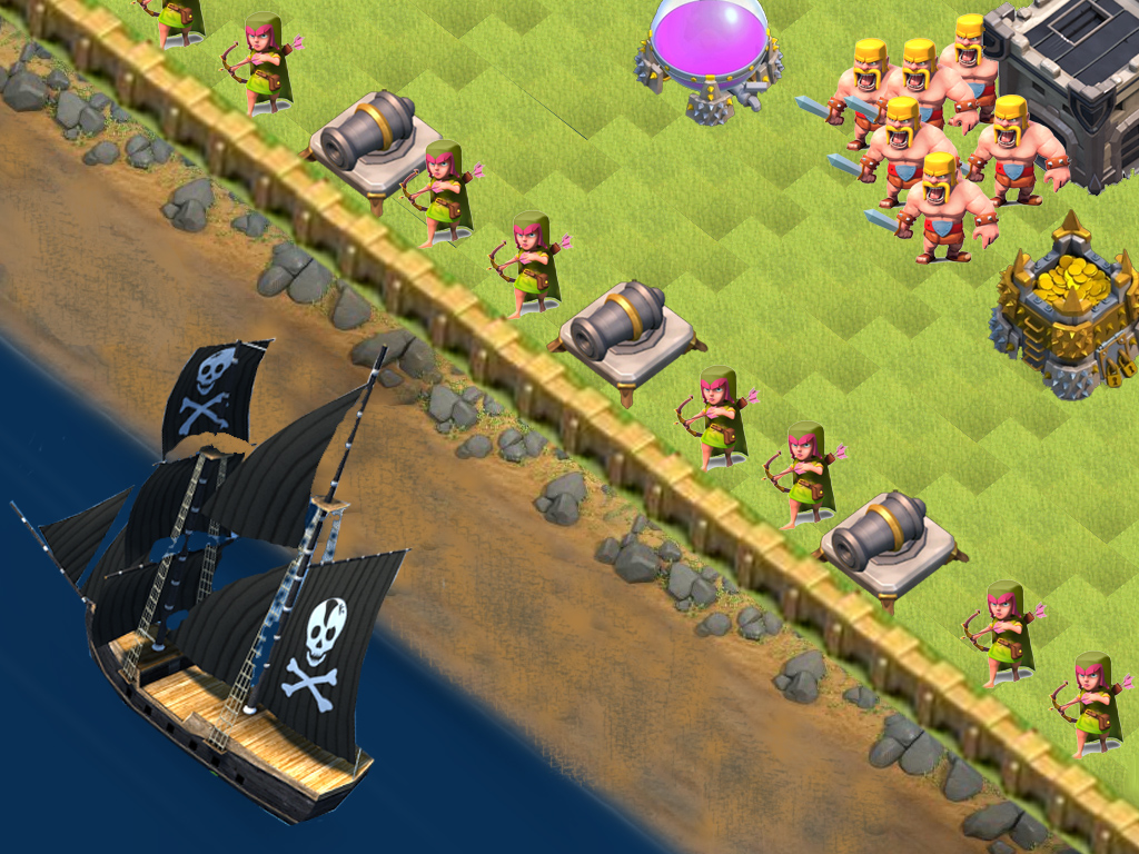 War Clash of Clans Base