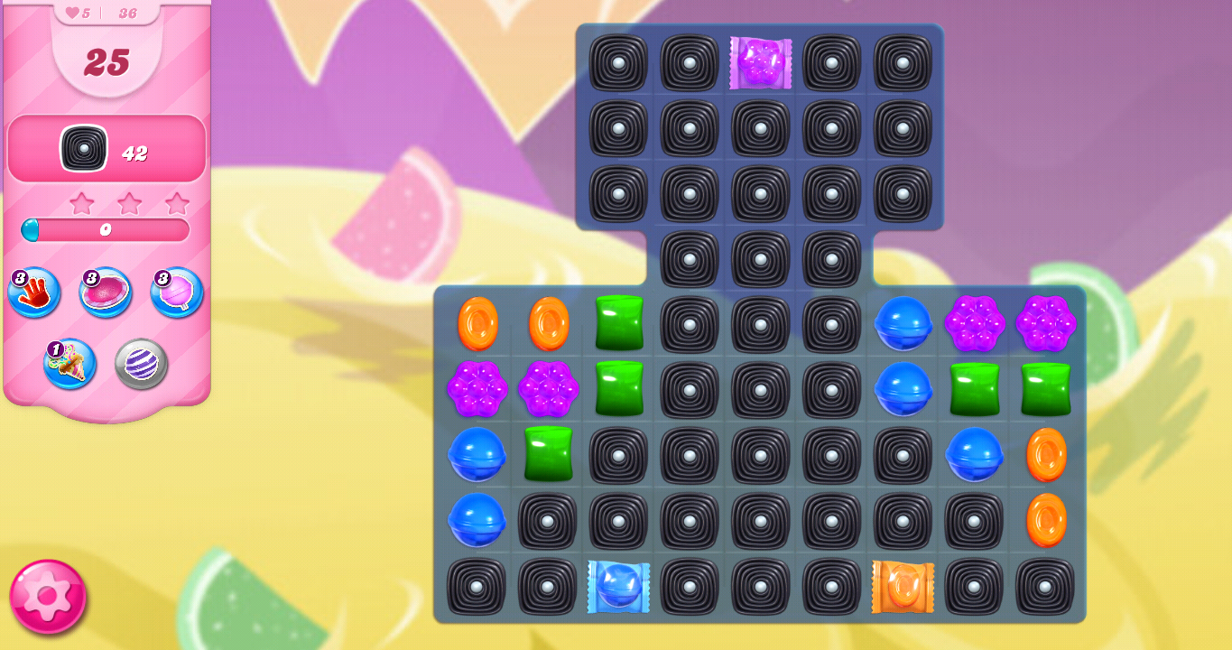 Level 36 board (Click to zoom)