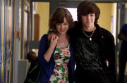 Clare and Eli at their lockers