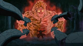 Itachi segura o ataque de Kabuto