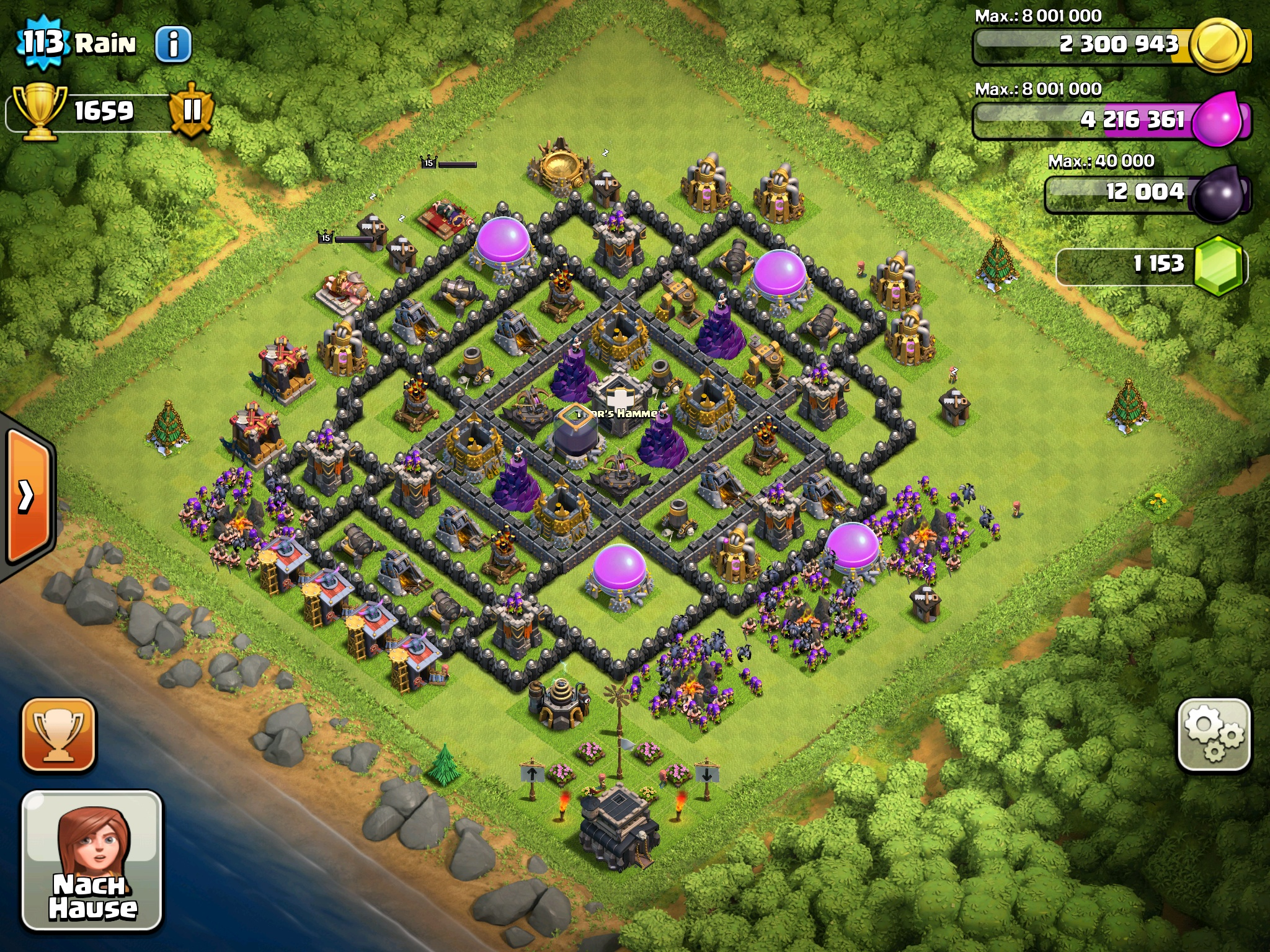 Pin Clash Of Clans H